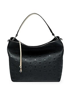 ff25c07575da65 MCM. Large Klara Monogram Leather Hobo Bag