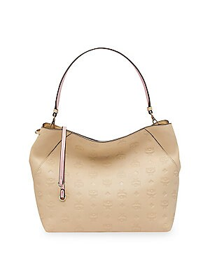 e278b2ee117b MCM - Medium Klara Monogram Leather Hobo Bag - saks.com