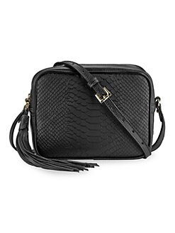 5c4d4f78ec QUICK VIEW. Gigi New York. Madison Embossed Python Boxed Crossbody Bag