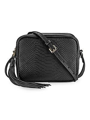 f4ae076edccf Gigi New York - Madison Embossed Python Boxed Crossbody Bag