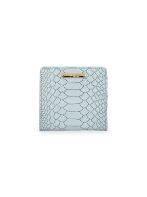 GIGI NEW YORK Mini Embossed Python Folding Wallet in Ice