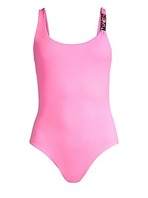 04691ab564 Moschino - Logo Plunge Back Swimsuit