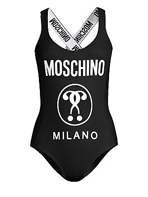 60367384cf Moschino - Graphic Logo One-Piece Swimsuit