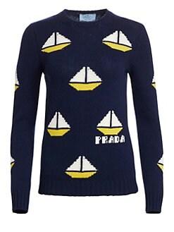 6d9e2ccf0 Prada - Virgin Wool   Cashmere Boat Knit