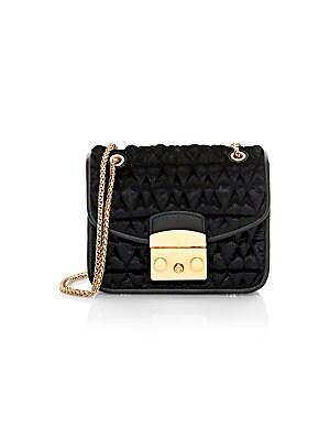 6eb238f1828 Furla - Mini Metropolis Quilted Velvet Shoulder Bag