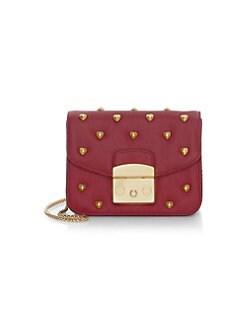 1407fd6c3522 Metropolis Amoris Studded Leather Mini Crossbody Bag ONYX. QUICK VIEW.  Product image