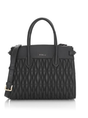 Pin Small Quilted Leather Tote in Onyx