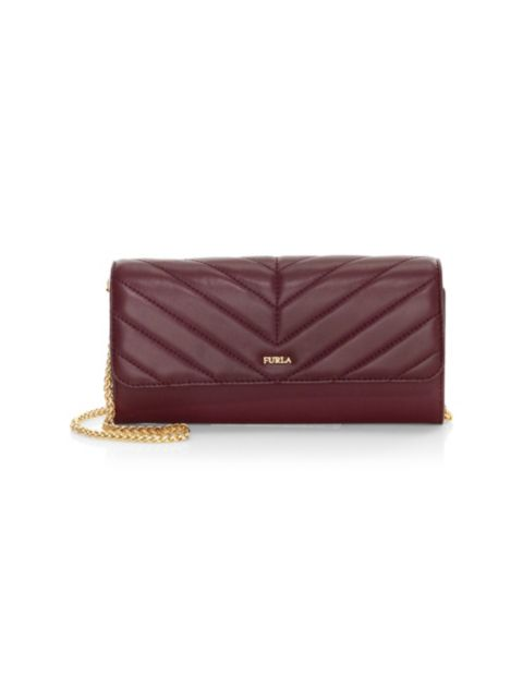 Furla Quilted Leather Wallet-On-Chain | SaksFifthAvenue