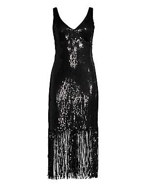 a5f3abc76fd Nanette Lepore - Funkytown Sequin Fringe Slip Dress