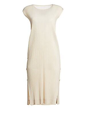Monthly Colors Sleeveless Shift Dress by Pleats Please Issey Miyake