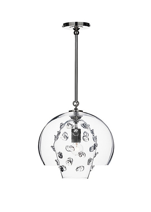 Florence Polished Nickel Grand Double Shade Pendant Lamp