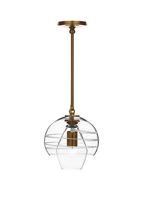 Amalia Petit Burnished Brass Double Shade Pendant Lamp