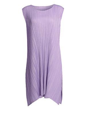 Pleats Please Issey Miyake Mellow Pleats Sleeveless Swing Dress