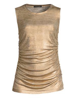 Kobi Halperin Paige Metallic Sleeveless Top