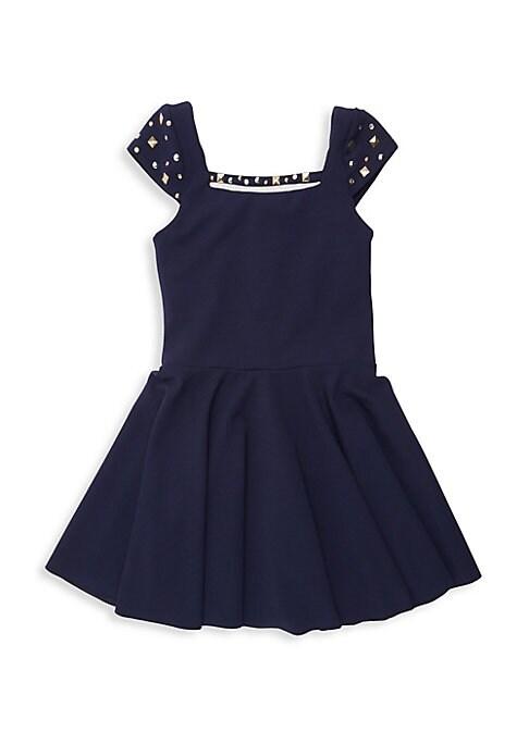 Girls Riley Studded Cap Sleeve Dress