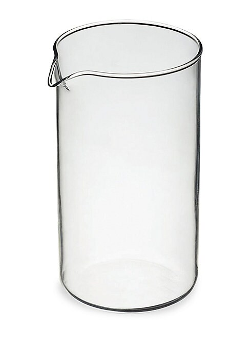 Image of A universal design replacement beaker that fits all French presses from GROSCHE and most other major brands. It's made from heatproof borosilicate, heat-resistant glass, & guaranteed not to cloud or impart flavor into your coffee or tea. When its time for