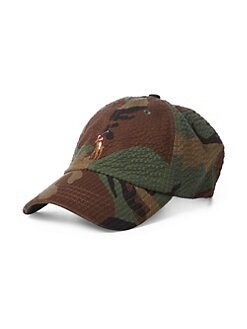 db062288755 Polo Ralph Lauren. Cotton Seersucker Camo Hat