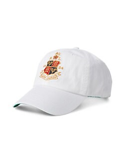 Polo Ralph Lauren. Embroidered Crest Baseball Cap 5aae8c5db2d