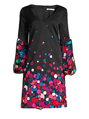 fe6d0314cd09e Kate Spade New York - Glitzy Ritzy Dusk Buds Print Mini Dress - saks.com