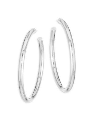 Lou Sterling Silver Large Hoop Earrings by Jennifer Zeuner Jewelry