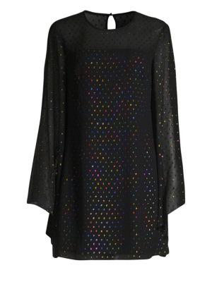 Trina Turk Dresses Winterluxe Tess 2 Metallic Multicolor Polka Dot Shift Dress