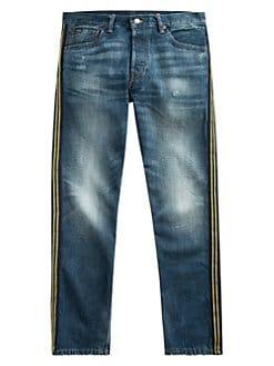 f1f061658c2f Polo Ralph Lauren. Yale Side-Stripe Slim-Straight Jeans