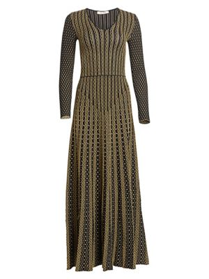 Roberto Cavalli Textured Knit A Line Maxi Dress