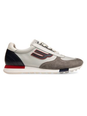 Galaxy Gavino Retro Leather Sneakers by Bally