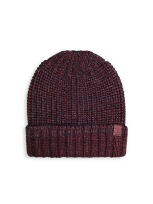 BICKLEY + MITCHELL Cable Knit Wool-Blend Beanie in Red