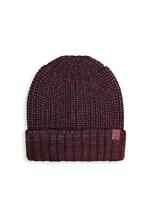 """Image of Marled knot beanie is a bold accessory with this multifaceted hues. Wool/acrylic. Hand wash. Imported. SIZE. Width, 8.66"""".Length, 9.05""""."""