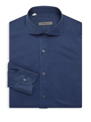 Corneliani Jersey Pique Oxford Shirt