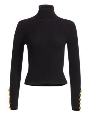 Desi Button Accent Turtleneck Sweater by A.L.C.