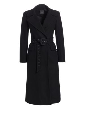 Perfect Belted Wool Blend Trench Coat by Theory