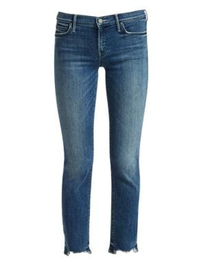 Rascal Chewed Hem Straight Leg Ankle Jeans by Mother