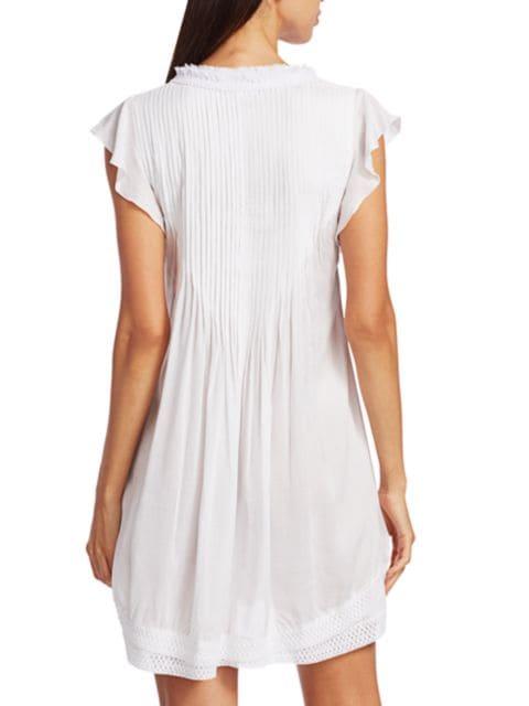 Poupette St Barth Sasha Lace-Trim Mini Dress | SaksFifthAvenue
