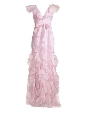 Alice Mccall My Baby Love Ruffle Gown In Purple Modesens