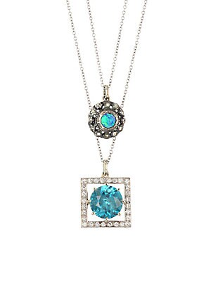 0beda818beea02 Renee Lewis - 18K Yellow Gold, Rose Cut Diamond & Black Opal Two-Chain