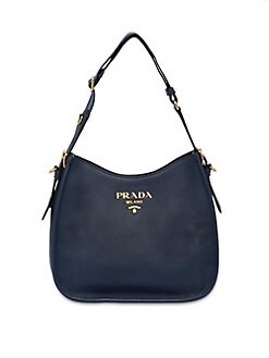 3133c730a550 Product image. QUICK VIEW. Prada. Small Daino Leather Hobo Bag