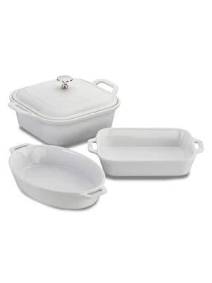 Staub Ceramics 4-pc Mixed Baking Dish Set In White
