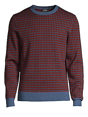 """Image of Classic merino wool sweater is perfect for mid-season temperature Crewneck Long sleeves Pullover style Rib-knit trim Merino wool Dry clean Imported SIZE & FIT Classic fit About 28"""" from shoulder to hem. Men Adv Contemp - Trend Collections > Saks Fifth Ave"""