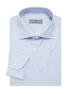 35c5d8b3763 Product image. QUICK VIEW. Canali. Check Cotton Dress Shirt