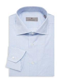 35c5d8b3763 Product image. QUICK VIEW. Canali. Check Cotton Dress Shirt