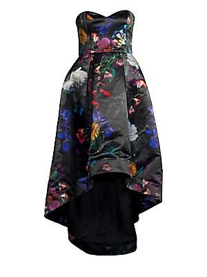 03af230fcc2 Parker Black - Roxanne Satin Floral Strapless Gown - saks.com