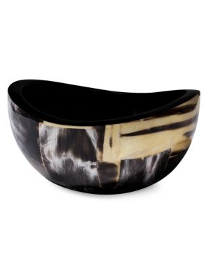 Ladorada Bull Horn Veneer Wood Accent Bowl
