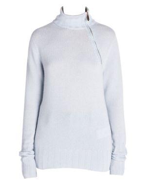 28e19d377779b1 Giorgio Armani Asymmetric Zip Cashmere Sweater Asymmetric Zip