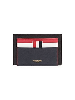 5cc58d04cec9 QUICK VIEW. Thom Browne. Fun Mix Leather Double Sided Card Holder
