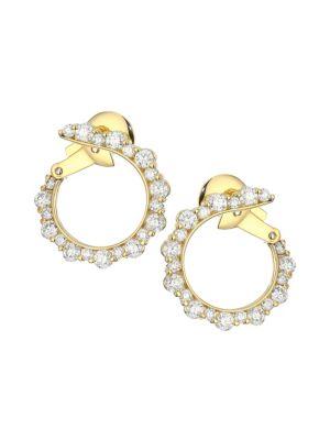 PLEVÉ Integre 18K Yellow Gold & Diamond Hoop Earrings