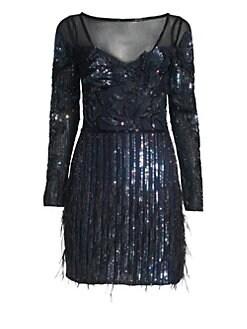 QUICK VIEW. Parker Black. Bailey Embellished Mesh Dress e455ba1a8