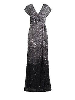85cb577dc4a QUICK VIEW. Parker Black. Carmela Beaded Column Gown