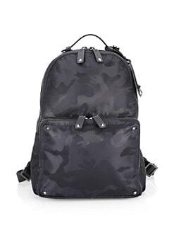 267b7c876b686c Valentino Garavani. Jacquard Camo Backpack